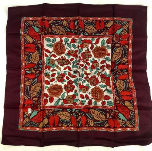 Vintage Liberty Of London Silk Ladies Scarf / Red Purple / Floral / Clothing
